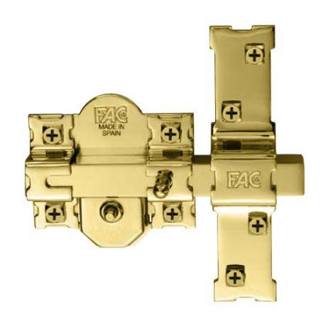 Cerrojo 301-RP/80 dorado (2 unidades) misma clave plana Fac