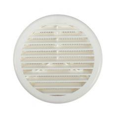 Rejilla circular plastica con mosquitera 100 mms blanco kallstrong