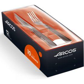 Juego de chuleteros 6 cuchillos 110mm y 6 tenedores 90mm Arcos