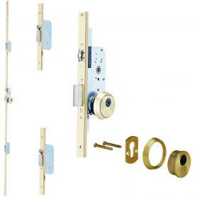 Cerradura seguridad embutir tlpn3 3 puntos laton 60mm tesa