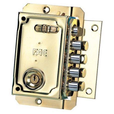 Cerradura de sobreponer Fac S 90 - 50mm izquierda dorado