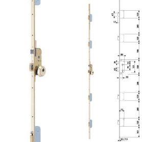 Cerradura seguridad embutir tlpf66le 5 puntos laton 60mm tesa