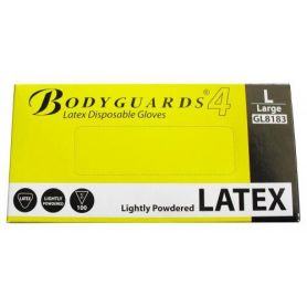 Guante de latex alta calidad talla L ambidiestro caja 100 unidades Tefer