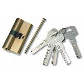 Cilindro 796 de seguridad 60mm latón pulido Teicocil