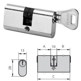 Cilindro laton niquelado 5963/2222/3 derecha cvl