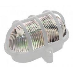 Aplique exterior plástico oval blanco IP44 Mercatools