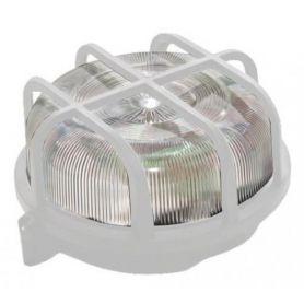 Aplique exterior plástico redondo blanco IP44 Mercatools