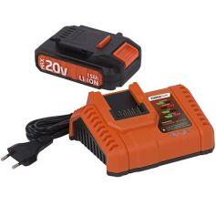 Bateria 20v litio y cargador para amoladora powdp3510 powerplus
