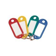 Llavero portaetiquetas de colores surtidos (caja 100 uds) cufesan