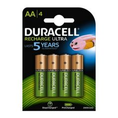 Pila AA recargable Ultra HR6 2500 mAh (pack 4 unidades) Duracell