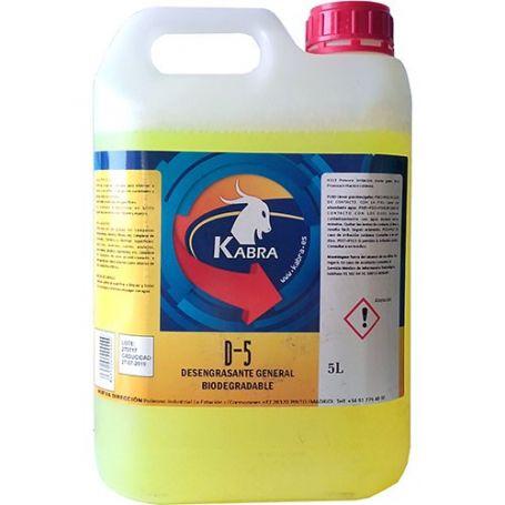 Desengrasante general 5 litro d-5 biodegradable kabra
