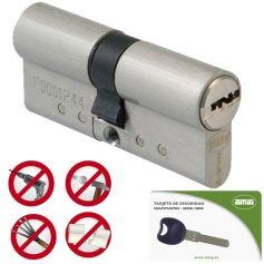 Cilindro seguridad Amig modelo 10000 doble embrague 30+40 cromomate