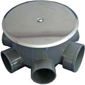 Bote sifonico para alargar con tubo pvc ø110 tecnoagua