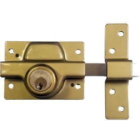 Cerrojo 350 latonado doble cilindro ezcurra