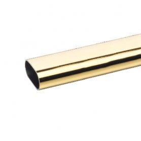 Barra armario aluminio dorado 25x15mm 2 mt (9 und) bricotubo