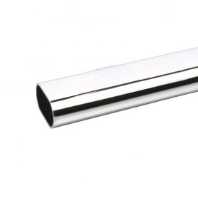 Barra armario aluminio cromo 25x15mm 2 mt (9 und) bricotubo