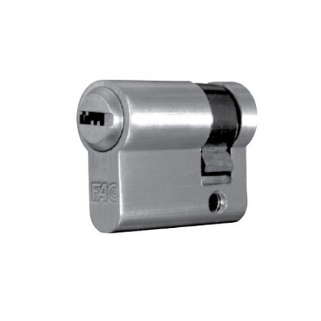 Medio cilindro 70mm 60x10 niquel satinado llave de seguridad Fac