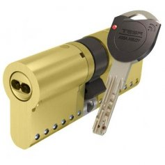 Cilindro de alta seguridad TK100 30x30 E13 latón leva corta Tesa