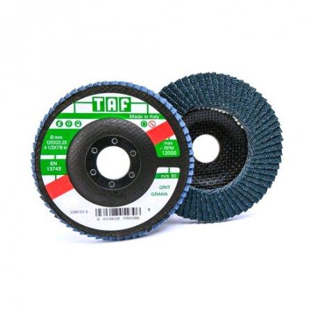 Disco de laminas zirconio 125x22 Taf vez 51 grano 60