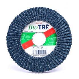 Disco de lamina zirconio 115x22 biodegradable taf LB11ZB grano 60