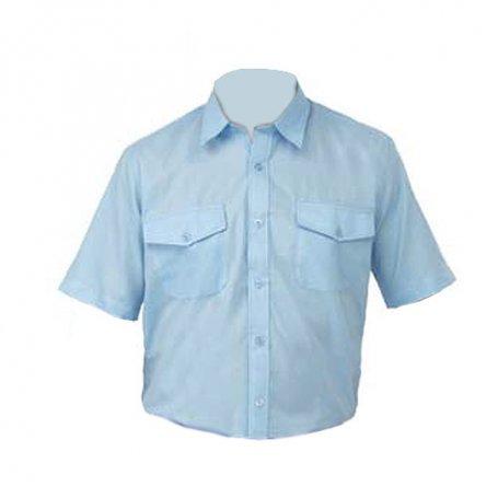 Camisa Tergal manga corta L500 azulina talla 42 Vesin