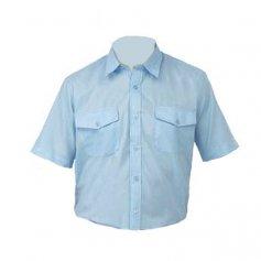 Camisa Tergal manga corta L500 azulina talla 46 Vesin