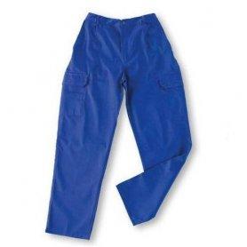 Pantalón multibolsillos goma tergal L500 azulina talla 44 Vesin