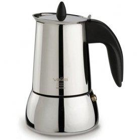 Cafetera inoxidable isabella induccion 6 tazas + cafe valira