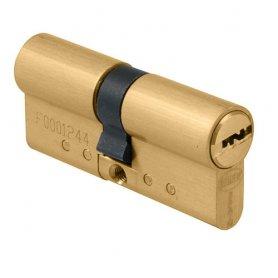 Cilindro seguridad Amig modelo 10000 doble embrague 31+31 latón mate