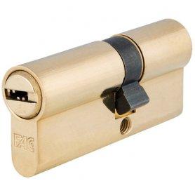 Cilindro de perfil europeo 70mm laton leva 15mm Fac