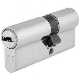 Cilindro de perfil europeo 60mm niquel leva 13.5mm llaves igulas Fac