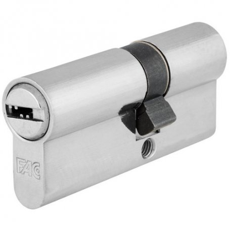 Cilindro de perfil europeo 60mm niquel leva 13.5mm llaves igulas