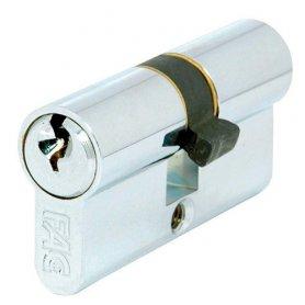 Cilindro de perfil europeo 60mm níquel leva 13,5mm misma clave FAC