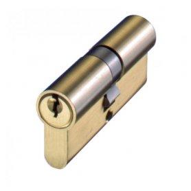 Cilindro de perfil europeo 80mm 30x50mm latonado leva 15mm FAC