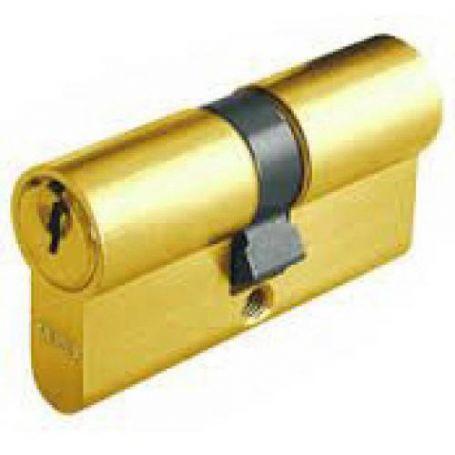 Cilindro europeo E50 Abus 30x30 laton llaves iguales