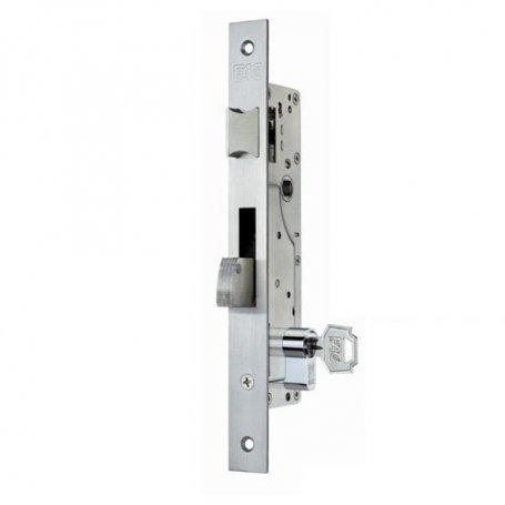 Cerradura de embutir perfil metalico Fac 7008/30-05 picaporte y palanca basculante