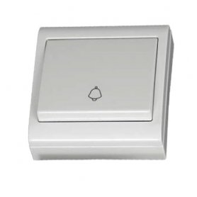 Pulsador superficie campana blanco 80x80mm 10A 250V GSC Evolution