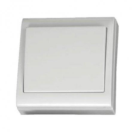 Interruptor bipolar superficie blanco 80x80mm 10A 250V GSC Evolution
