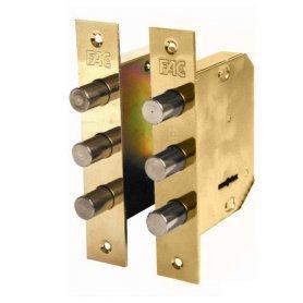 Cerradura de embutir madera Fac 480-B pareja dorada