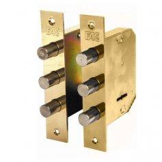 Cerrradura de embutir madera Fac 480-B pareja dorada