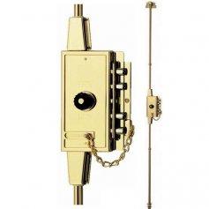 Cerradura sobreponer Fac MB 86 PP multibarra 7 pasadores dorada