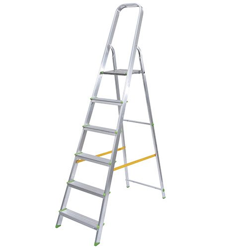 Escalera de aluminio ferral classik 6 pelda os domestica for Escaleras ferral