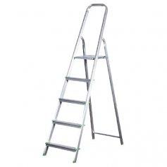 Escalera de aluminio Ferral Classik 5 peldaños domestica 150kg
