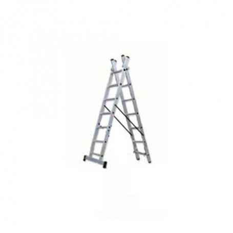 Escalera industrial de aluminio Ferral Classik/58 doble 2x7 peldaños