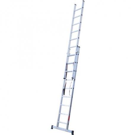 Escalera aluminio 2 tramos 9 peldaños