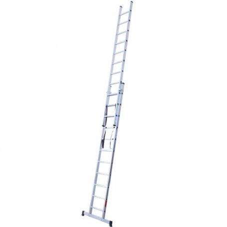 Escalera aluminio 2 tramos 11 peldaños