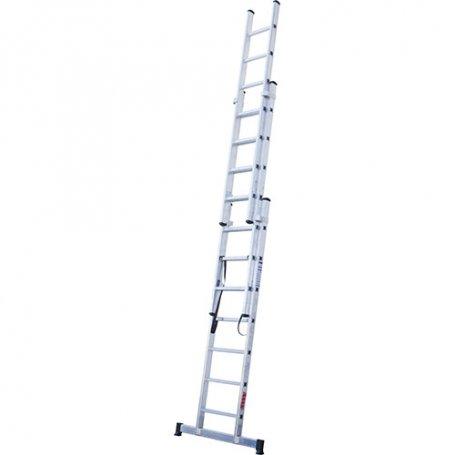 Escalera aluminio 3 tramos 11 peldaños