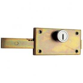 Jgo cerradura central puerta persiana 584 ø25 (2 und) c/escudo aga