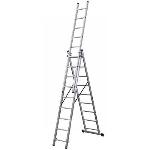 Escalera industrial aluminio triple classik 58 3x9 for Escaleras ferral