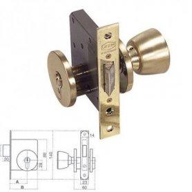 Cerradura de pomo 5300P hierro latonado 50mm UCEM